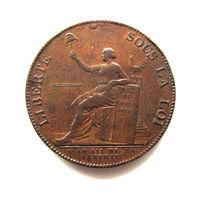 2 су 1791 частные деньги Французской Революции