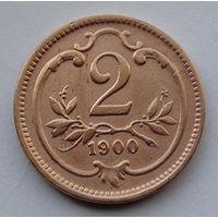 Австрия 2 геллера. 1900