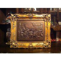 Барельеф НОЧНОЙ ДОЗОР Рембрандт 53х45х5 см панно картина