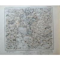 Оригинальная немецкая карта Браслав 1921г