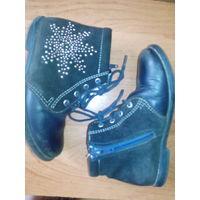 Ботинки,полуботинки на девочку ,кожаные 28 р
