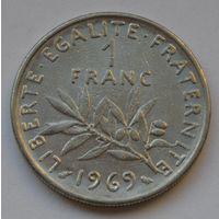 Франция, 1 франк 1969 г.