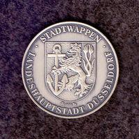 Германия.700 лет Дюссельдорфу. Серебряная медаль 1988 г.