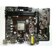 Материнская плата Asrock AM1B-MHD + процессор + охлаждение