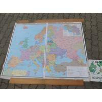 """Карта """" Территориальные и политические изменения в Европе(1991-2005)"""""""