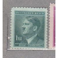 Германия рейх  Богемия и Моравия Адольф Гитлер известные люди 1942 г ЗЕЛЕНЫЙ ОТТЕНОК ОКАНТОВКИ лот 5