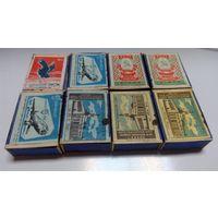 Спички СССР ГОСТ 1820 - 45,  1820 - 56, с разновидами, 8 коробков  со спичками (цена за все)