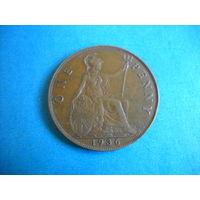 Великобритания 1 пенни 1936 г.
