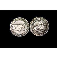 50 центов 1952 год Американизм,серебро