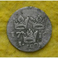 1 эре 1712 г Карл -12 Серебро