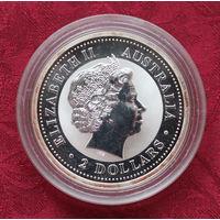 2 доллара 2004 Елизавета II Серебро, Австралия