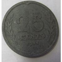 Нидерланды 25 центов 1941, цинк