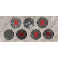 Австрия 5 грошей 1957//1967