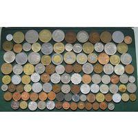 Красивый лот, 104 разных монет с Серебром из 47 Стран и Колоний без СССР и СНГ