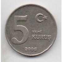 ТУРЕЦКАЯ РЕСПУБЛИКА  5 НОВЫХ КУРУШЕЙ  2006