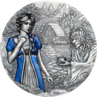 """RARE Острова Кука 20 долларов 2020г. """"Белоснежка и семь гномов"""". Монета в капсуле, подарочном футляре; номерной сертификат; коробка. СЕРЕБРО 93,30гр.(3 oz)."""