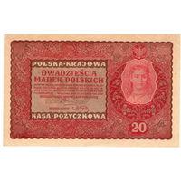 Польша, 20 марок, 1919 г.