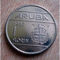 Аруба. 1 флорин 1987 г.