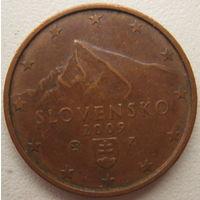 Словакия 2 евроцента 2009 г.