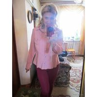 Красота. Рубашка с погонами. В модно этом сезоне бледно-розовом цвете. р. 46-48