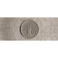 Зимбабве 10 центов 1980/дерево/Qu/