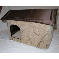Дом из мебельной ткани для собак и кошек. (20)