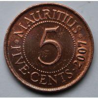 Маврикий, 5 центов 2007 г.