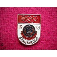 Значок Спартакиада в Латвии 1978 г.