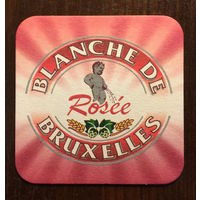 Подставка под пиво Blanche de Bruxelles No 2 /Бельгия/