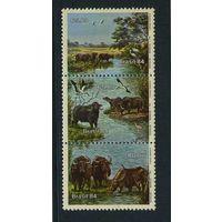 Бразилия 1984г. дикие звери. 3м. сцепка