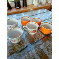 Чашки 6шт разнобой -цена за все