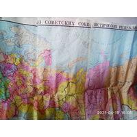 Карта СССР на ткани