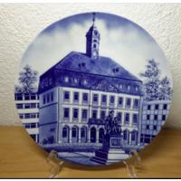 Seltmann Weiden.Schwab.Декоративная тарелка.24 см.Rathaus Hanau.1983 год