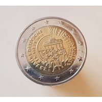 2 евро Германия 2015 D 25 лет объединения Германии