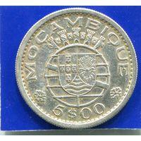 Мозамбик , Португальская Колония , 5 эскудо 1960 , серебро