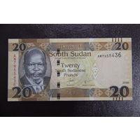 Южный Судан 20 фунтов 2016 UNC