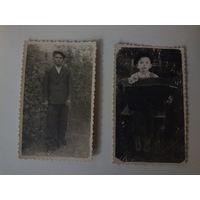 Два старых фото 5х8,5 см.