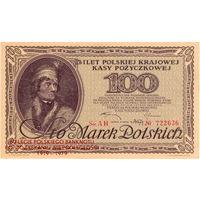 Польша, 100 марок польских, 1919 г. (официальный репринт 1979 г.)