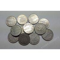 Польша, 1 злотый 1949,1966,1972,1973,1974,1975,1976,1977,1978 год.