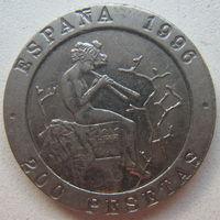 Испания 200 песет 1996 г. Музыканты