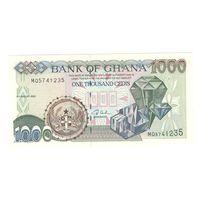 Гана 1000 седис 2003 года. Состояние UNC!