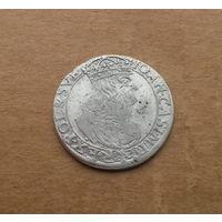 Речь Посполитая, 6 грошей 166..г., серебро, Ян II Казимир (1648-1668)