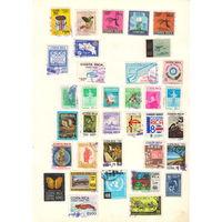 Коста-Рика Подборка гашеных марок в количестве более девяносто марок
