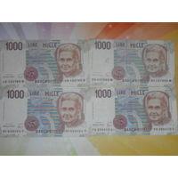 Италия 1000лир цена за одну