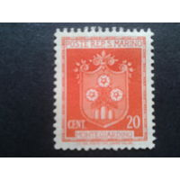 Сан-Марино 1945 стандарт, герб города