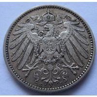 Германия 1 марка 1906 отметка монетного двора J - Гамбург