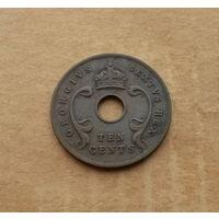 Британская Восточная Африка, 10 центов 1951 г., Георг VI (1936-1952), без титула императора