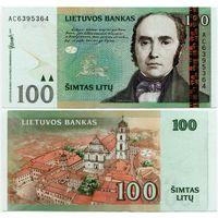 Литва. 100 лит (образца 2007 года, P70, aUNC) [серия AC]