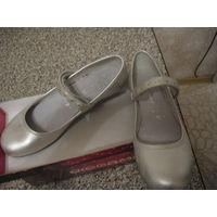 ДЛЯ ШКОЛЫ новые туфли девчачьи Daumling (Германия) р-р 40 натуральная кожа внутри и снаружи