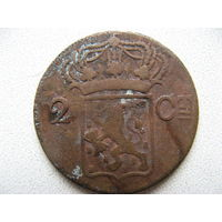 Нидерландская Индия 2 стювера 1834 г. V